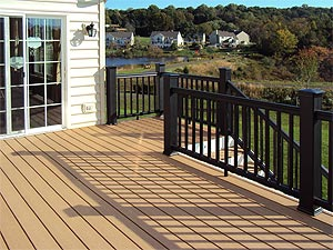 Comparison of decking materials pros and cons of various for Cedar decks pros and cons